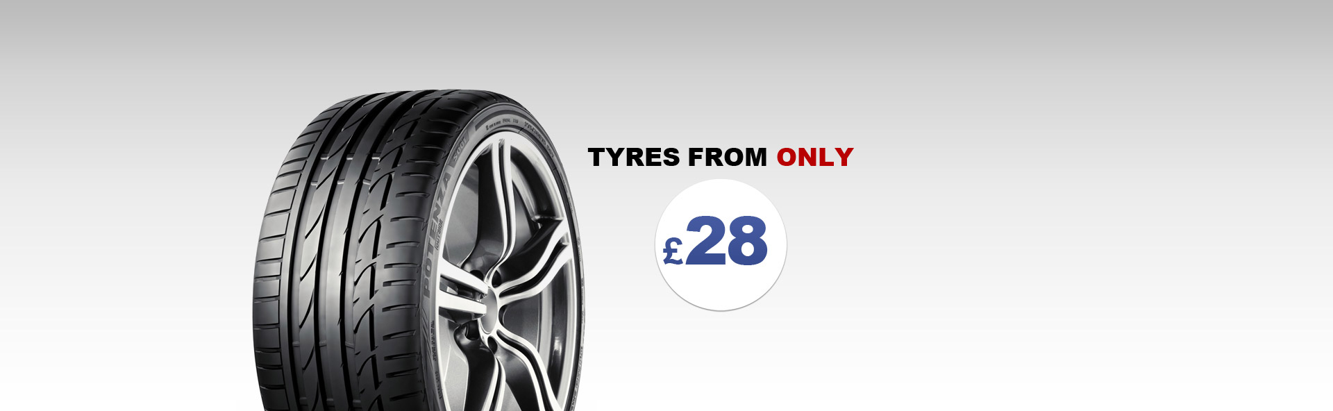 Image displaying tyres from only £28 in Edinburgh