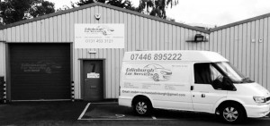 Edinburgh Car Services van and premises